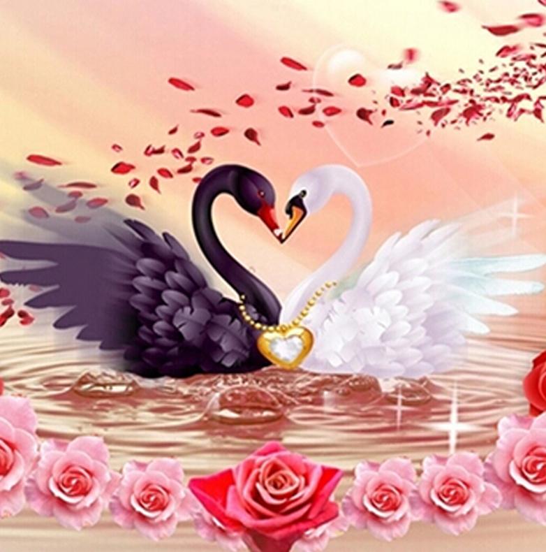 Электронной, открытка лебеди на свадьбу